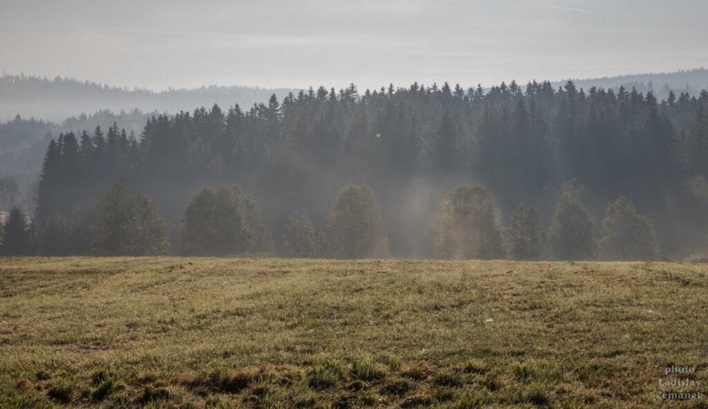Šumava - ráno v okolí Haidmühle a Nového Údolí
