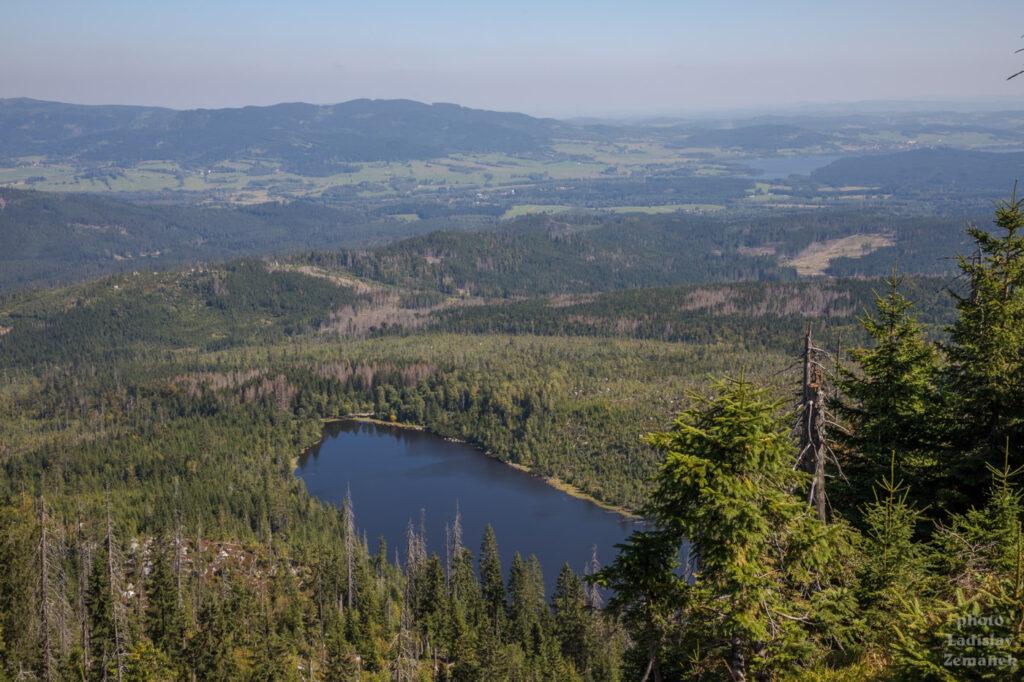 výhled na Plešné jezero