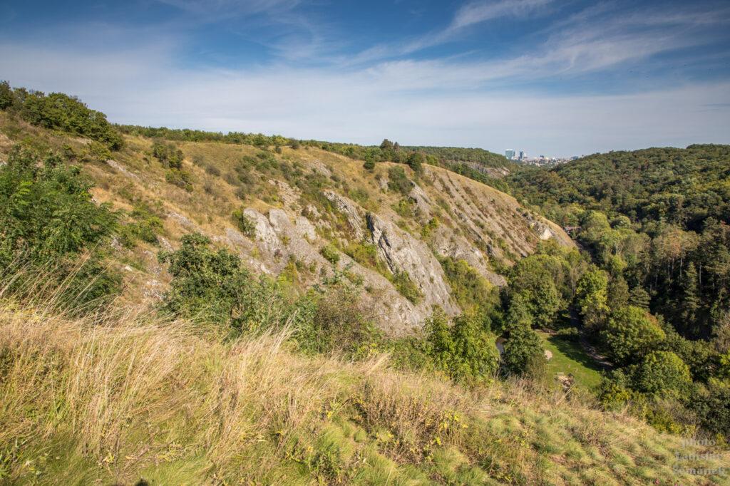 skály v Prokopském údolí
