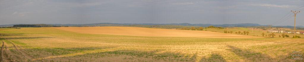 Horažďovice - vrch Loreta - pole při západu slunce